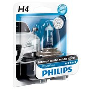 фото Лампа PHILIPS H4 WhiteVision +60%, 4300K, 1шт/блистер (12342WHVB10)