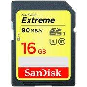 фото Карта памяти SANDISK SDHC 16GB Extreme Class 10 UHS-I U3 (SDSDXNE-016G-GNCIN)