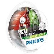 фото Галогенная лампа PHILIPS H1 LongLife EcoVision, 2 шт/блистер (12258LLECOS2)