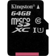 фото Карта памяти KINGSTON microSDXC 64Gb Canvas Select U1 (SDCS/64GBSP)