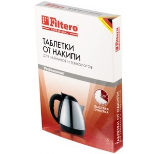фото Таблетки от накипи для чайников и термопотов FILTERO 604