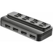 фото USB-хаб TRUST 4 port USB 2.0 Hub with Swithes (20619)