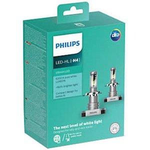 фото Лампа для автомобильных фар PHILIPS Ultinon Led H4 (11342ULWX2) 2 шт/комплект