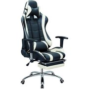 фото Кресло SPECIAL4YOU ExtremeRace black/white footrest (E4732)