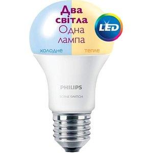 фото Лампа PHILIPS LED Scene Switch E27 9.5-60W 3000K/6500K 230V A60