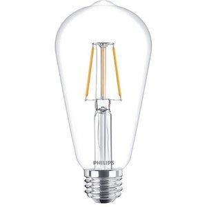 фото Лампа PHILIPS LED Fila ND E27 4-50W 2700K 230V ST64 CL (929001237308)